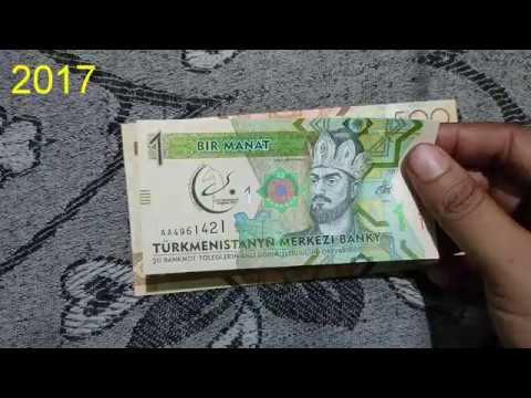 Turkmenistan Currency    Turkmenistan Manat    Beautiful Asian Currency Note