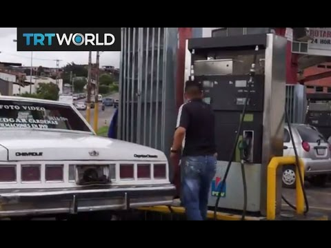 Venezuela Crisis: Long lines for gas in oil-rich Venezuela