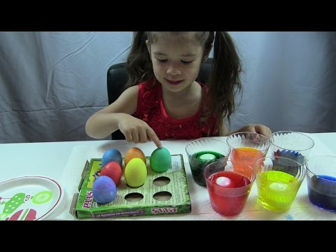 "❤️❤️Bé Peanut Nhuộm Trứng Phục Sinh❤️ Easter Eggs Coloring Kit ""PAAS"""