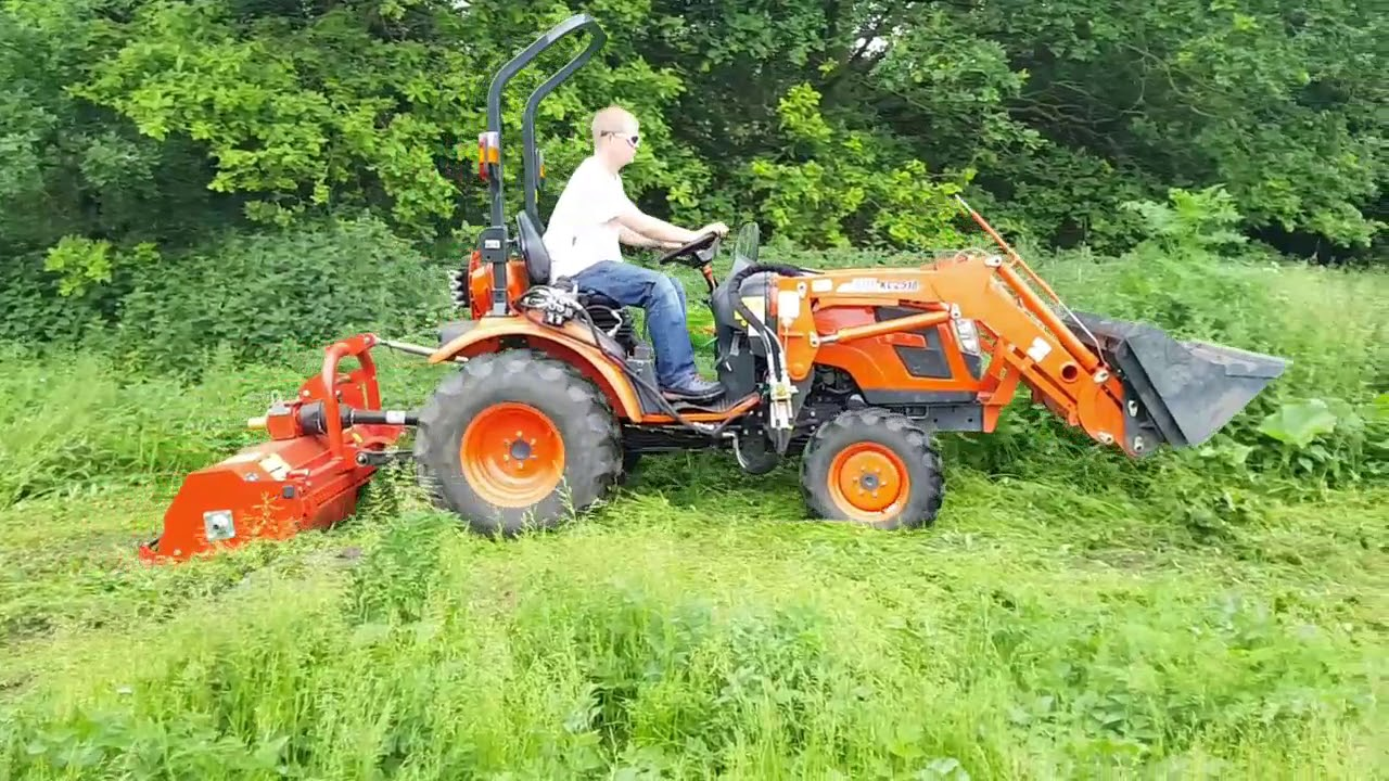Kioti Tractor CK2810 & Flail Mower For Sale UK | Compact Tractors For Sale  UK