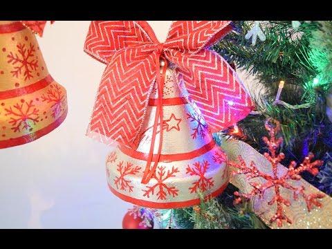 Manualidades De Navidad Campanas.Campanas Navidenas How To Make A Christmas Bell Campana De Unicel Para Navidad Loveluzlop
