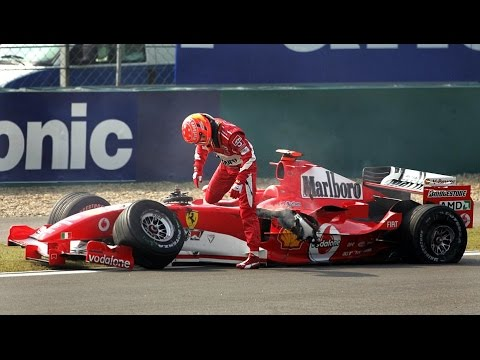 F1 HISTORY 2005 Chinese Grand Prix ||| CRASH Michael Schumacher And Albers Collide