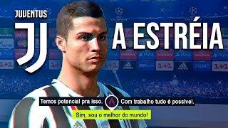 A ESTRÉIA DO CR7 NA CHAMPIONS LEAGUE COM A JUVENTUS  - Modo Carreira Jogador #3 (FIFA 18)