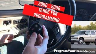 How To Program A GM Truck/SUV 1998-2006 Chevrolet, Buick, Cadillac, GMC Keyless Entry Remote Fob