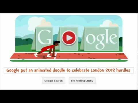 London 2012 Hurdles - An Interactive Animated Google Doodle / Game