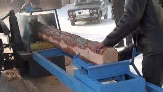Новая якутская пилорама для трактора Беларусь