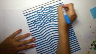 How to draw a 3D hand - optical illusion