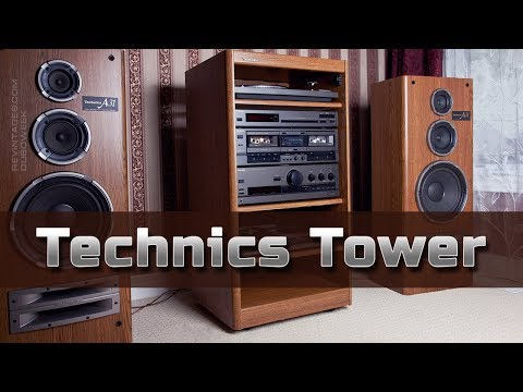 Stereo Components Of Technics Tower