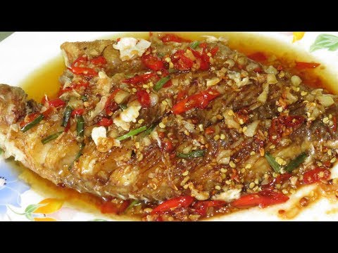 Spicy Fried Fish With Sauce Creative Recipes    Asian Food Cooking