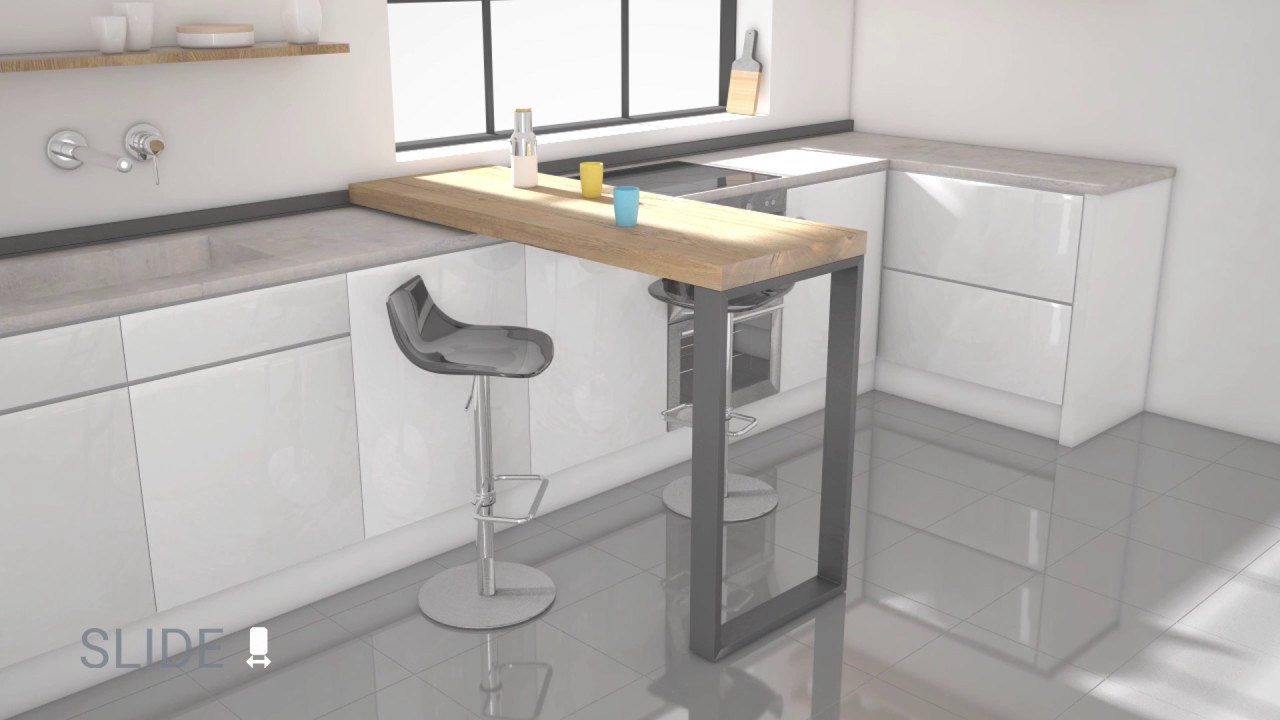 Barra cocina slide movimiento desplazamiento 01 cancio for Barra auxiliar para cocina