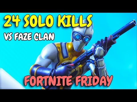 BEST SOLO GAME EVER IN FORTNITE FRIDAY vs Faze Tfue & Cloak | 52 Total Kills