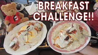 WOMAN Competitive Eater DOMINATES 5LB Breakfast Challenge!!