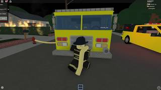 Day 1 roblox fire fighter RP