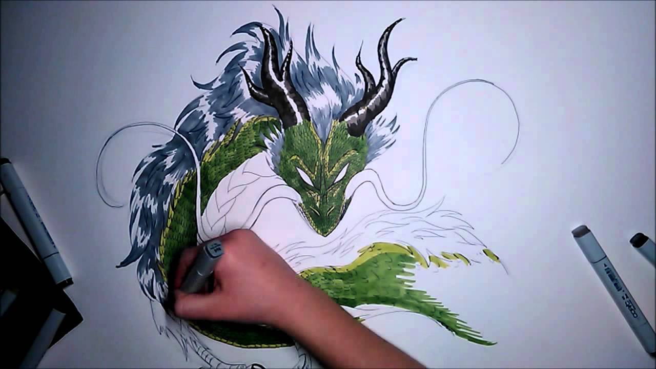 Chinesischer Drache Speed Drawing Youtube