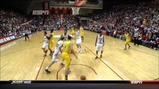 Michigan's Glenn Robinson III PUNCHES Indiana's Jordan Hulls in the Face...