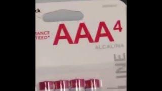 1 Hour AA AAA AAAAAAAAA Batteries Version