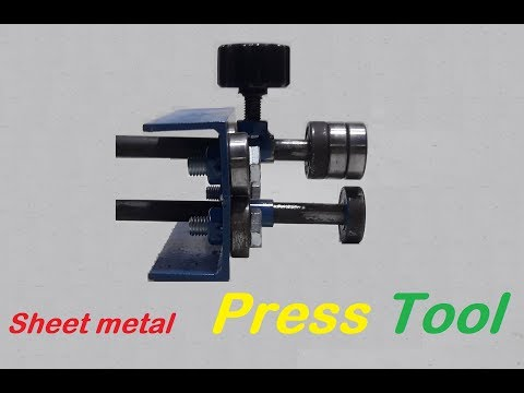 Amazing tool! How to Fold Sheet Metal / Homemade Sheet metal Press Tool