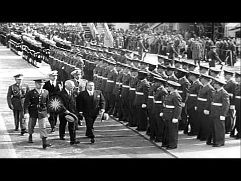 United States President Harry Truman welcomes President of Chile in Washington D....HD Stock Footage