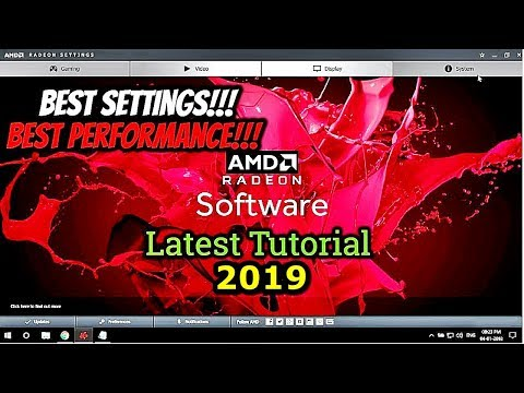 AMD Radeon Software 2018 Best Settings For Best Performance (Really Works!!!)
