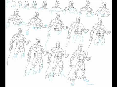 How To Draw Batman Gotham Knight Easy Simple Step By Step