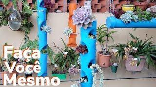 COMO FAZER VASO PARA PLANTAS FEITO COM CANO PVC