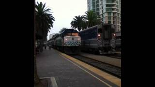 Coaster Commuter Train - Pushed By 2 Engines