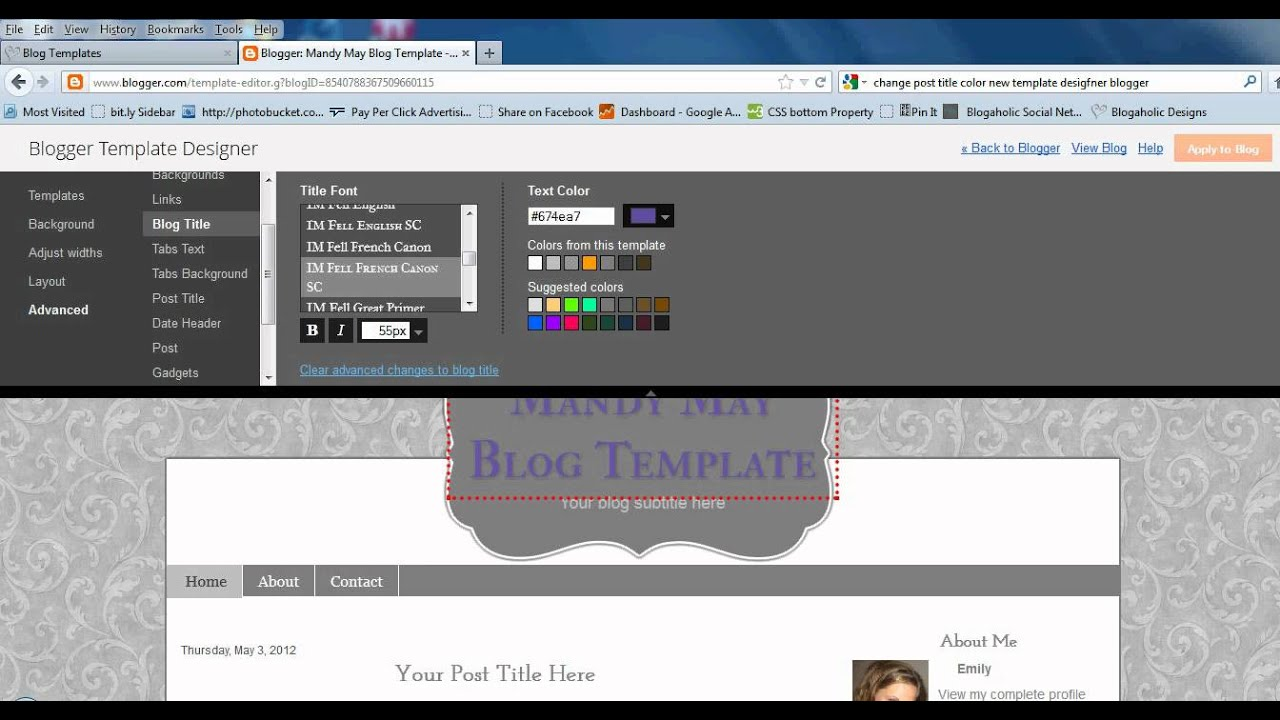 How To Customize Post, Blog, and Sidebar Titles On Blogger Template ...