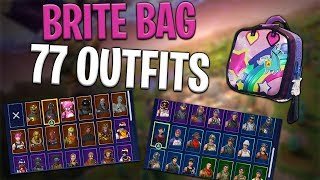Brite Bag Back Bling on 77 Outfits | Brite Gunner - Fortnite Cosmetics