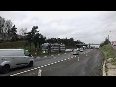 Gilets Jaunes 18 décembre 2018 Saint-Brieuc  RN12