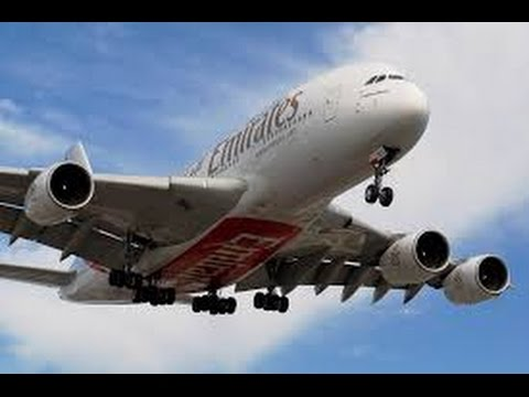 Emirates a380-800 Dubai to Toronto - Economy Class Seat 49 K & J full flight review
