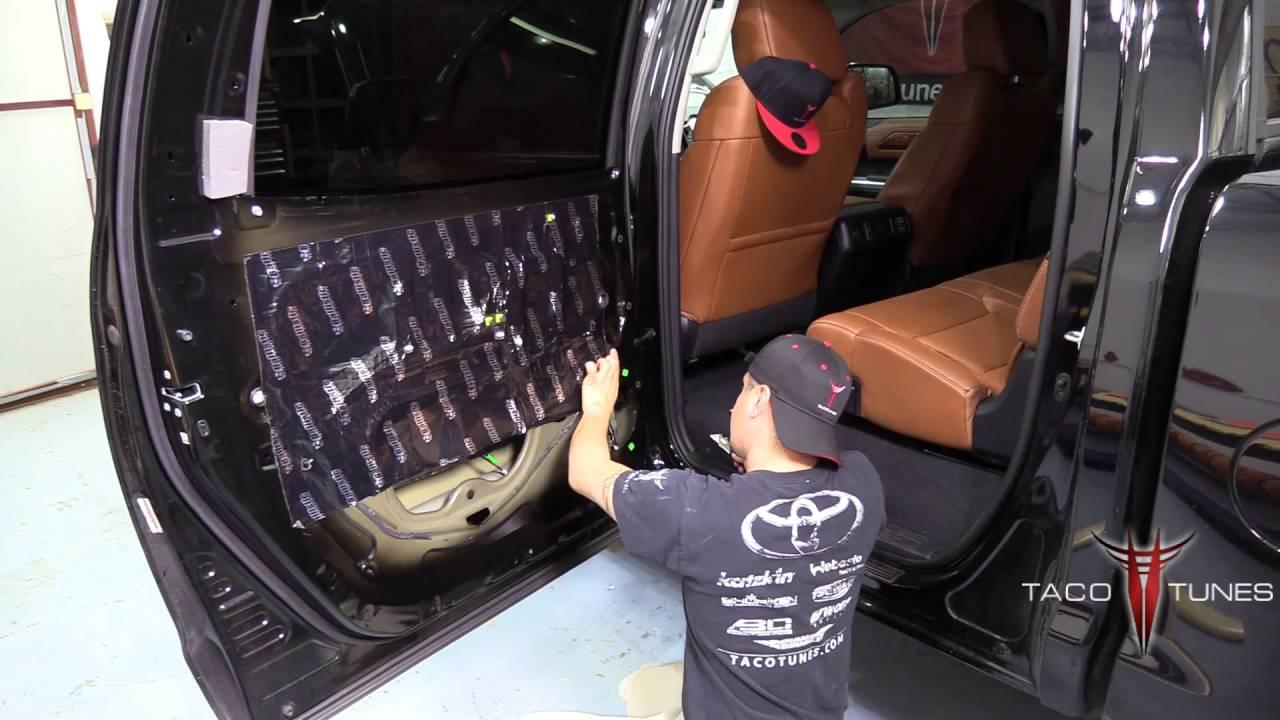Toyota Tundra How To Mat Rear Doors Part 3 Sound Deadner