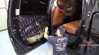 Toyota Tundra How to Mat Rear Doors - Part 3 Sound Deadner