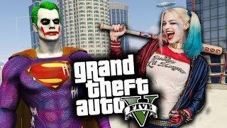 GTA 5 Mod Indonesia - SUPERJOKER & Harley Quinn RUSUHIN LOS SANTOS