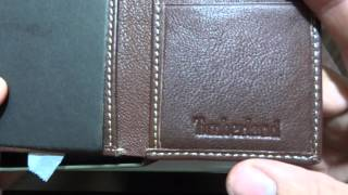 Timberland Blix Slim Tri fold Wallet for Men Leather Brown unboxing