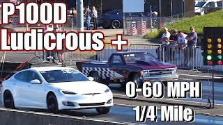 TESLA P100D LUDICROUS PLUS Easter Egg 1/4 Mile Performance Testing!