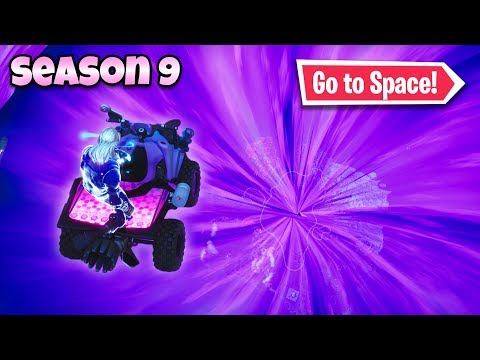 How to go to *Space* in Fortnite! (Season 9 Method)