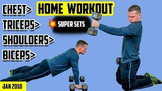 Extreme Shred Home Dumbbell Workout For Men & Women [2018] 💪 Strength and Size (FAST)