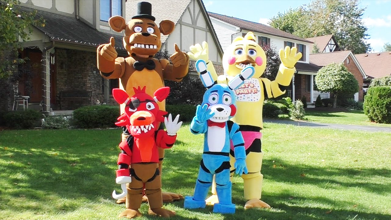 Amazing Fnaf Costumes Foxy Bonnie Freddy Toy Chica Five Nights