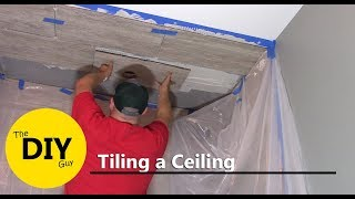 Tiling your ceiling can be a unique and interesting touch to your r...