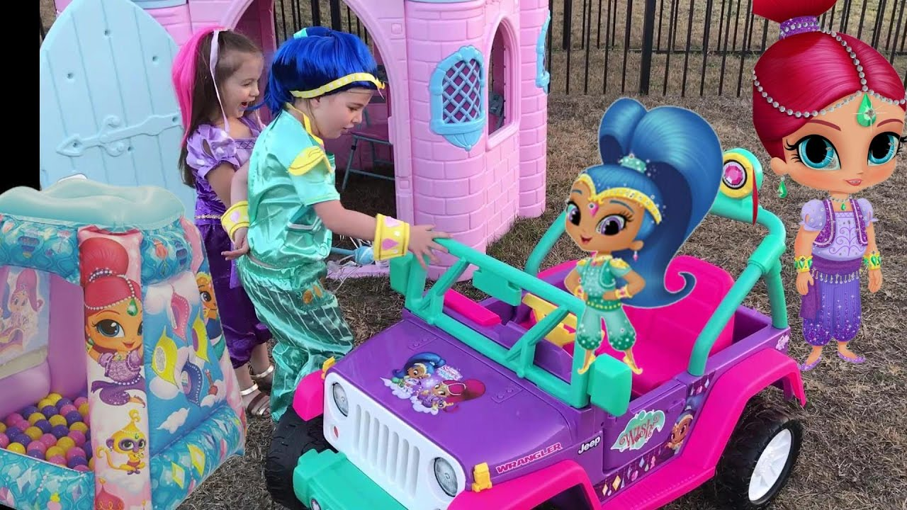 Shimmer and Shine Disney Princess Castle Power Wheels Dress Up Ball ...