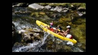 Location canoe Gorges du Tarn avec Aqua Soleil Eau Canoé base de Mostuéjouls La Resclause
