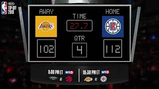 Lakers @ Clippers LIVE Scoreboard - Join the conversation and catch all the action on #NBAonTNT!