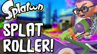 Splatoon - COOLEST WEAPON EVER - SPLAT ROLLER! - Splatoon Multiplayer Gameplay (Splatoon Wii U)
