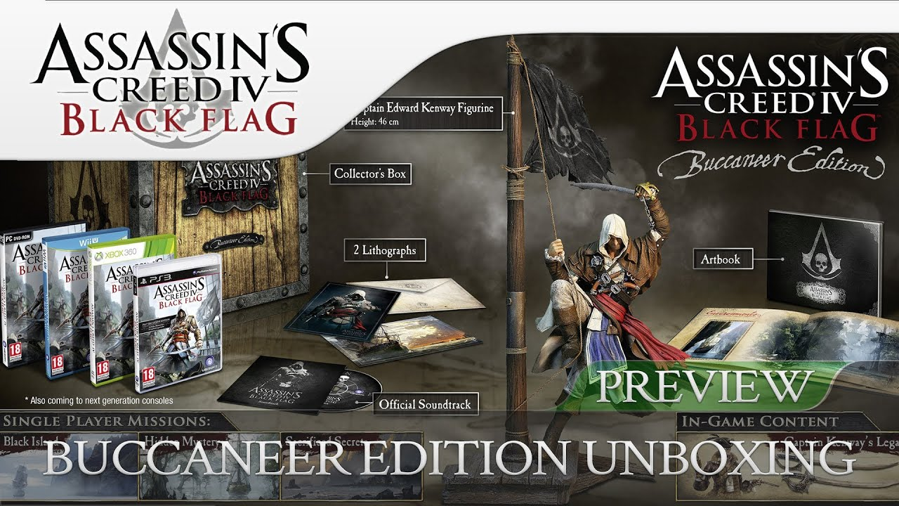 Assassin's Creed 4 Black Flag   Buccaneer Edition Unboxing ...