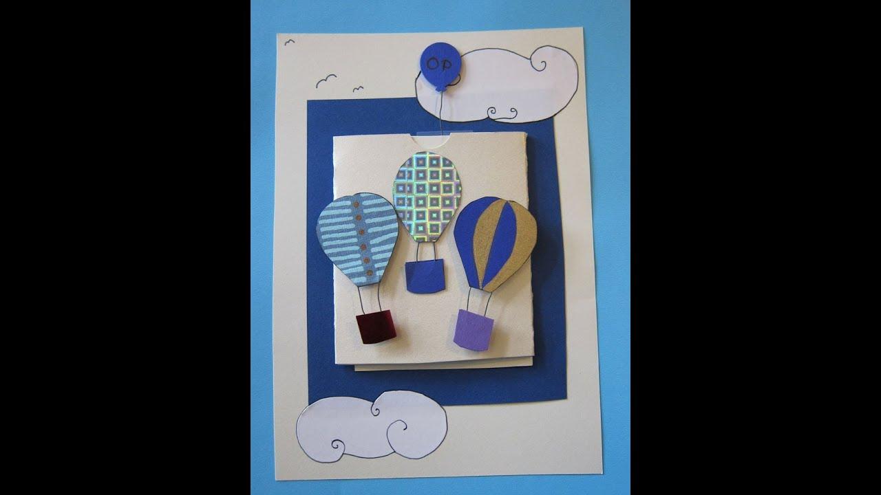 Hot air balloon card youtube hot air balloon card bookmarktalkfo Image collections