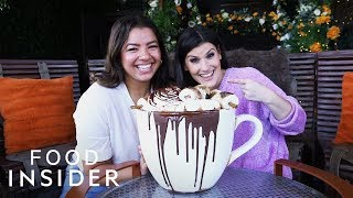 We Tried Giant Boozy Hot Cocoa That Costs $375 thumbnail