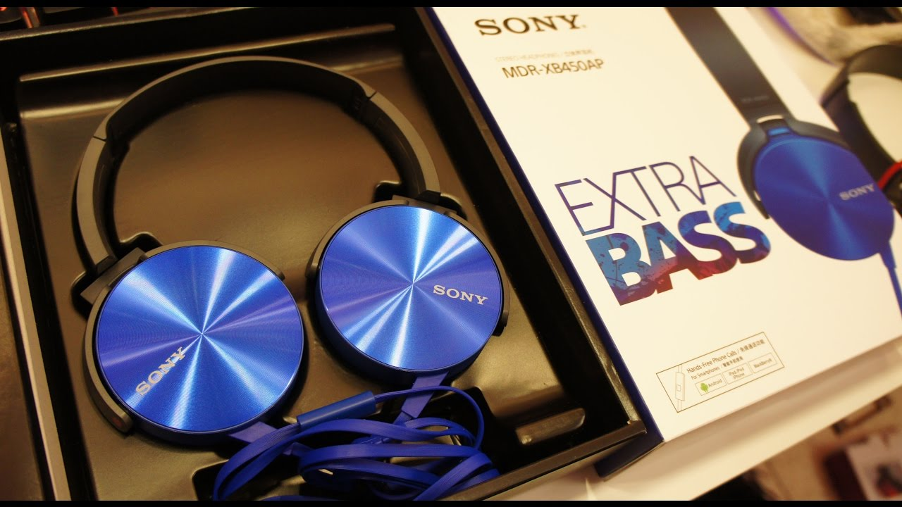 Headphones with microphone Sony MDRXB450AP EXTRA BASS Headphones REVIEW!