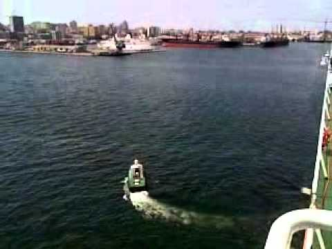 Grande Africa leaving Dakar, Senegal. Pilot leaving ship.mp4.mp4