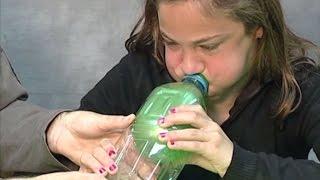 איך לנפח בלון בתוך בקבוק 2