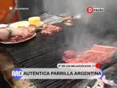 Restaurante El Rancho Madrid Asador Argentino cocinando en directo en Telemadrid
